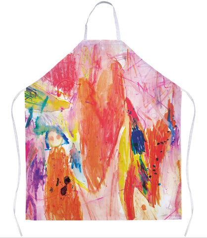 Abstract Heart Apron