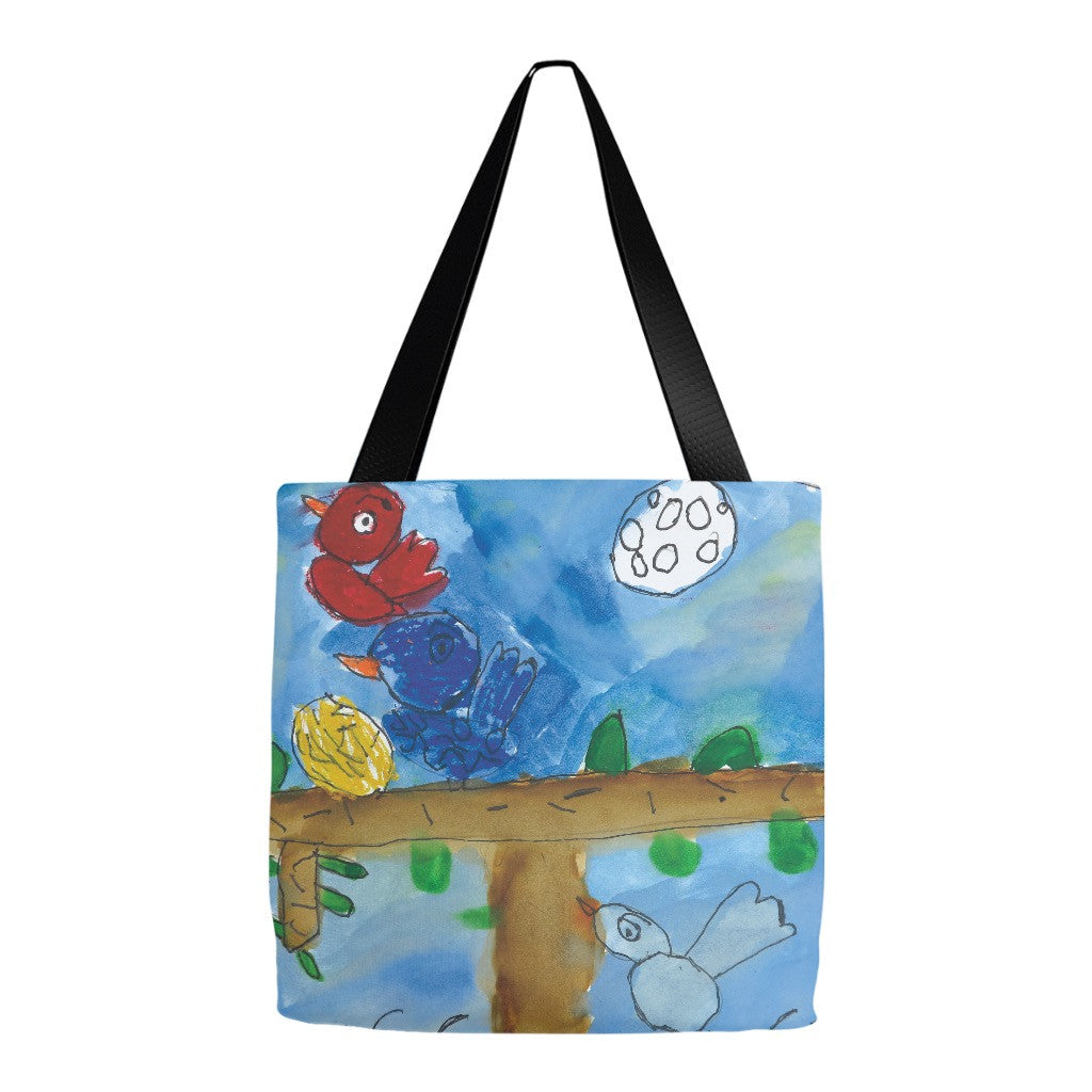 Colorful Birds Tote Bag