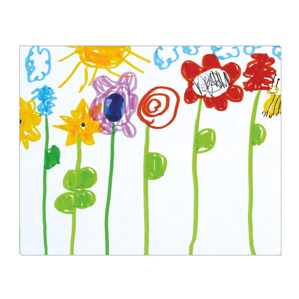 Bumble Bee Flowers Wrapped Canvas