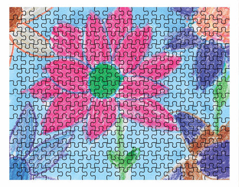 Crayon Flower Jigsaw Puzzle