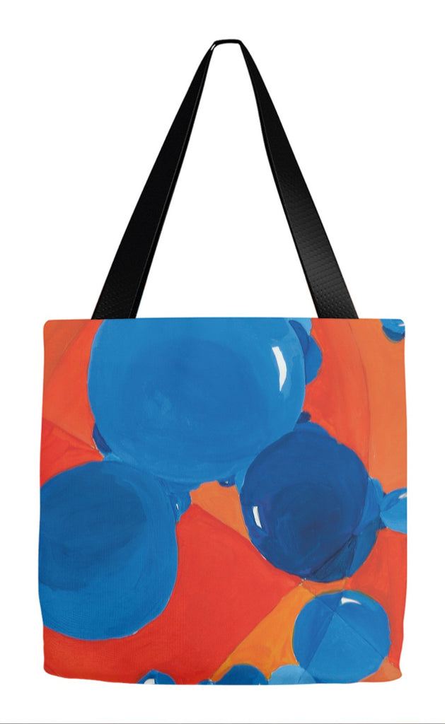 Orange & Blue Bubbles Tote Bag