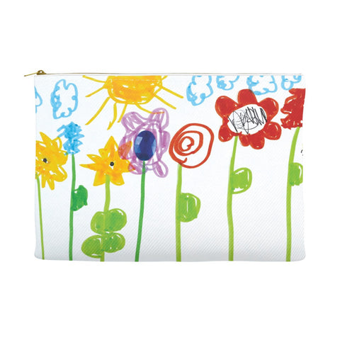 Bumble Bee Flowers Accessory Pouch