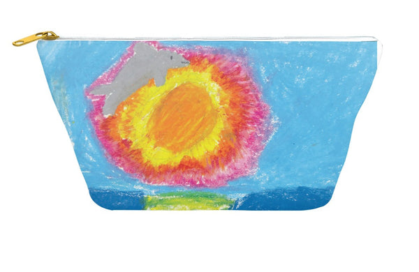 Dolphin at Sunset Accessory Pouch