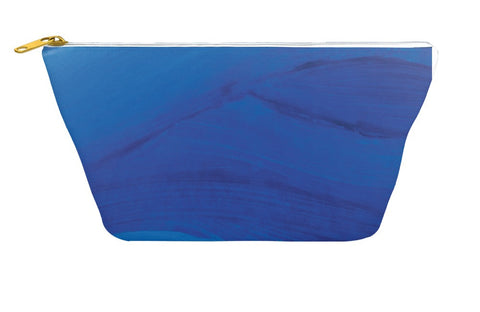 Blue Brushstrokes Accessory Pouch