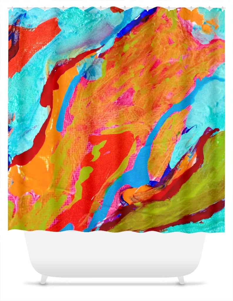 Marbled Paint Shower Curtain