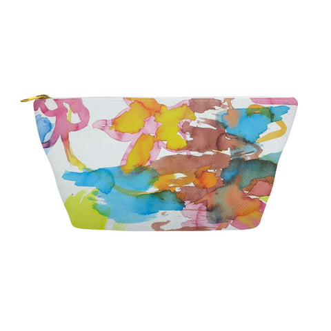 Bright Watercolor Flowers Accessory Pouch