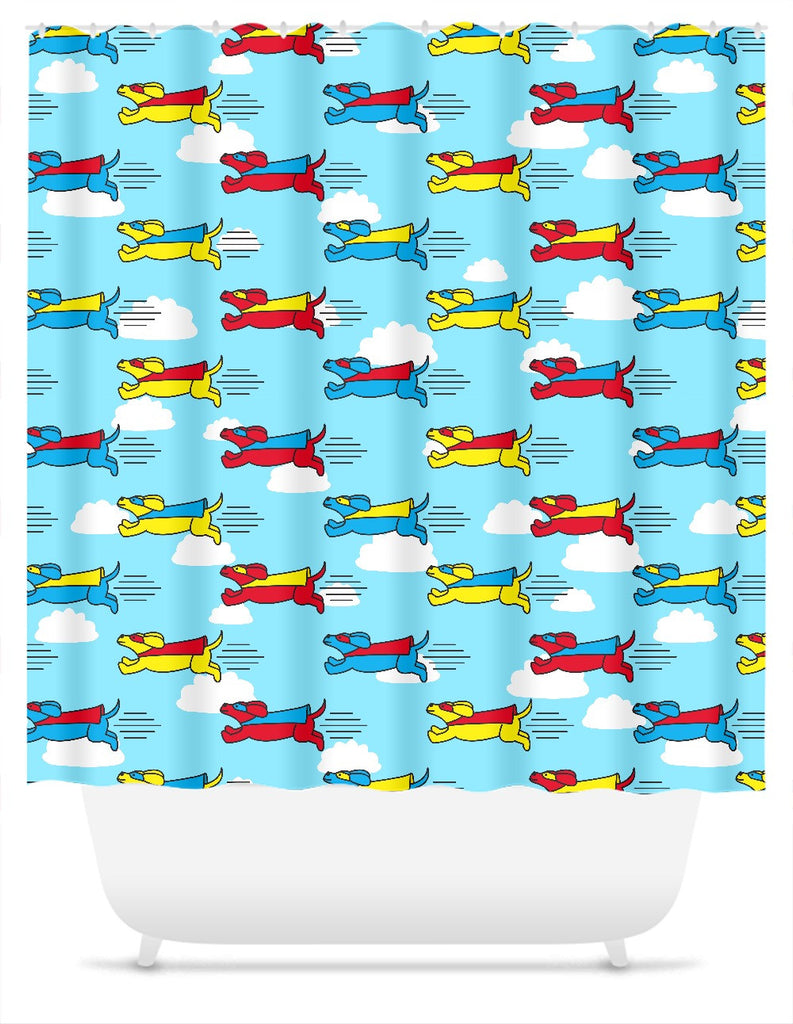 Super Dog Shower Curtain
