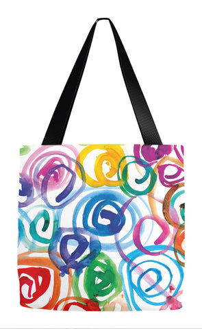Watercolor Swirls Tote Bag