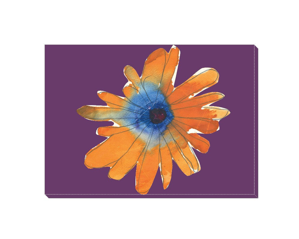 Orange Flower Wrapped Canvas