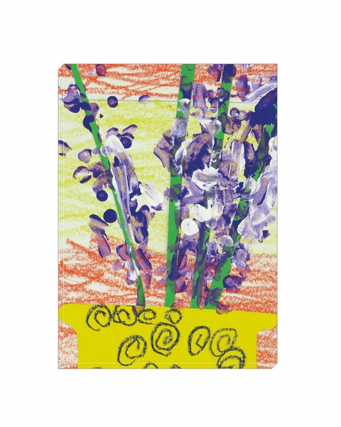 Purple Flowers Wrapped Canvas