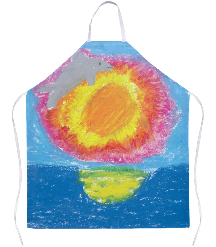 Dolphin at Sunset Apron
