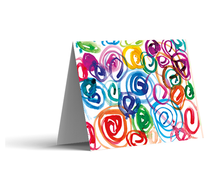 Watercolor Swirls Note Cards