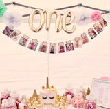 Age One Party Balloons  White Gold