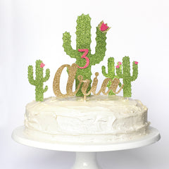 Cactus complete party pack. Cake toppers Cupcake toppers and Name topper