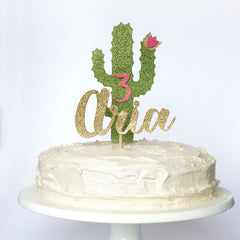 Cactus Cake Topper combination