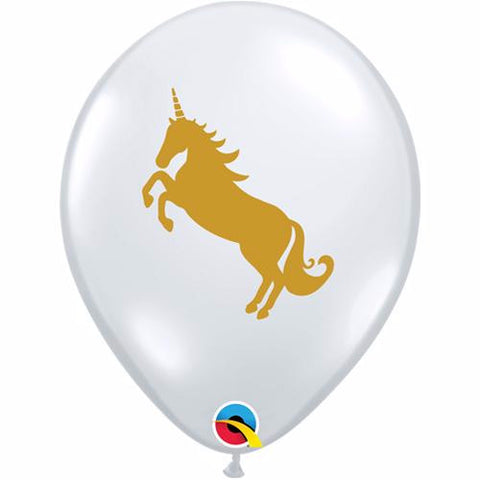 Unicorn themed latex balloons.