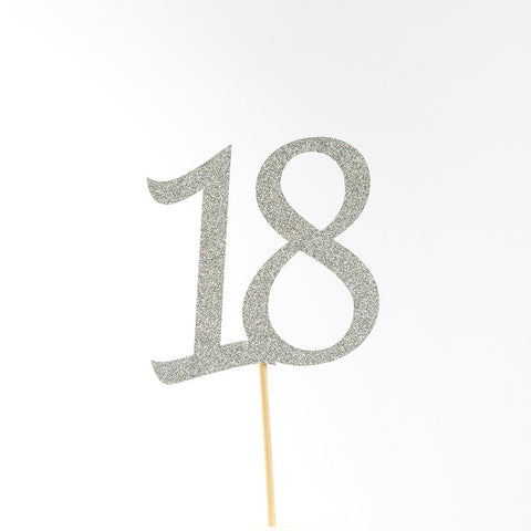 Birthday Cake Topper - Custom Age 18