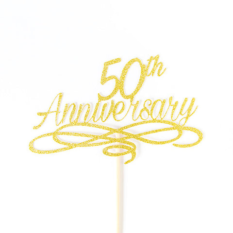 50th Wedding Anniversary cake topper