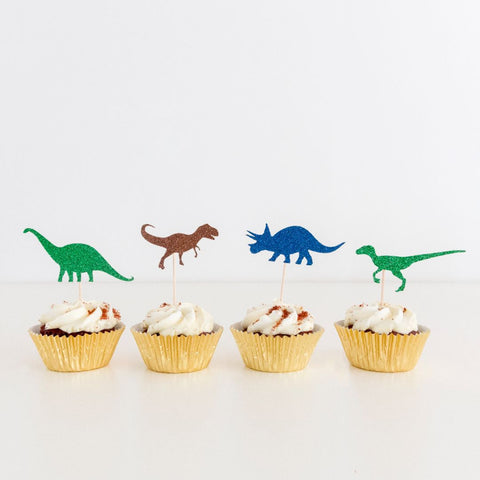 Cupcake toppers - Dinosaur shaped
