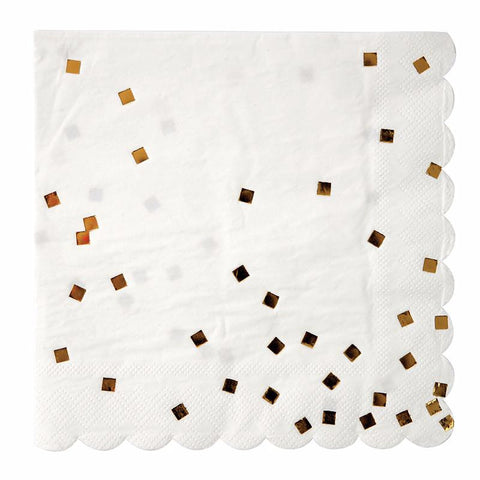 Gold Foiled Squares Large Napkin