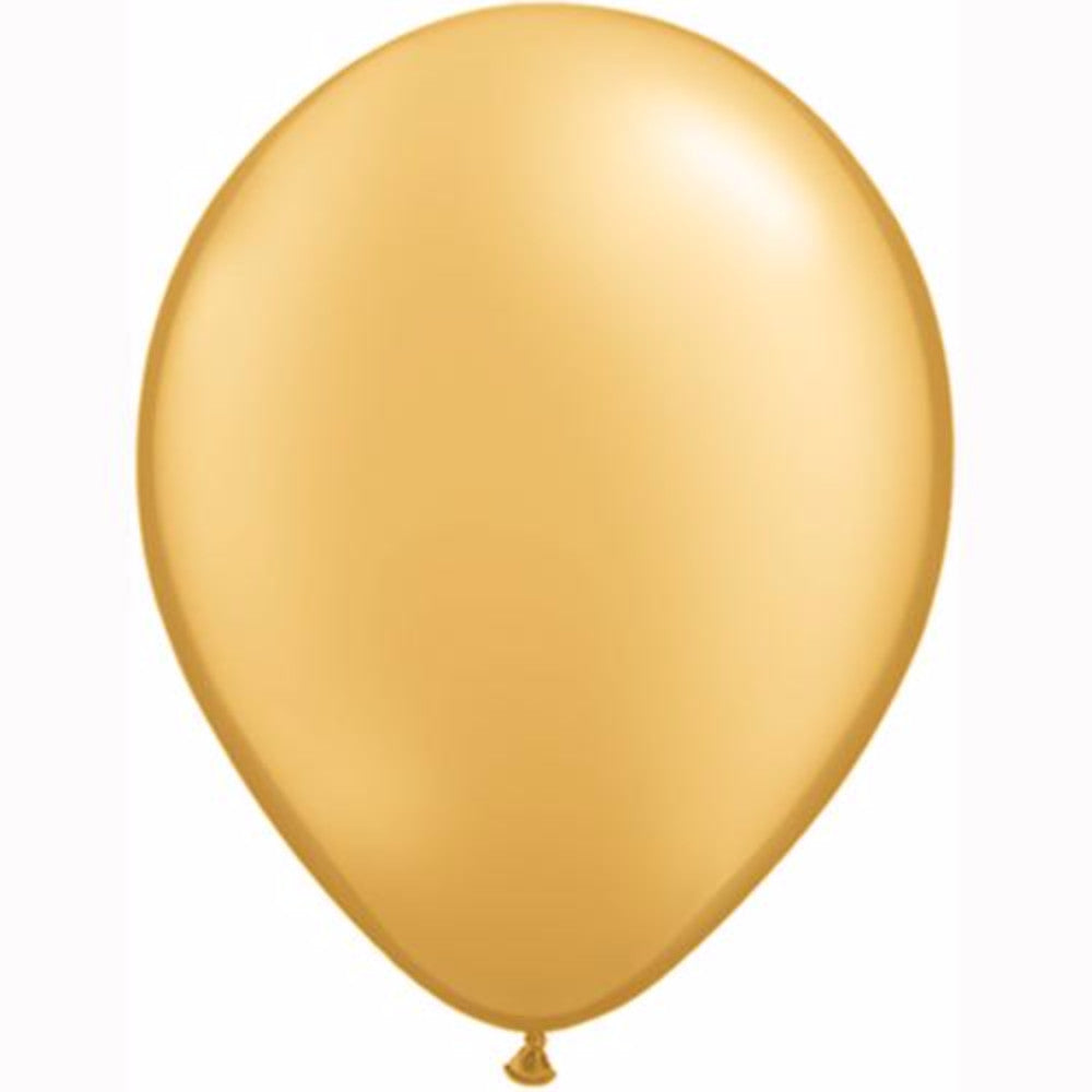 "11"" METALLIC GOLD SOLID-COLOUR LATEX BALLOONS"