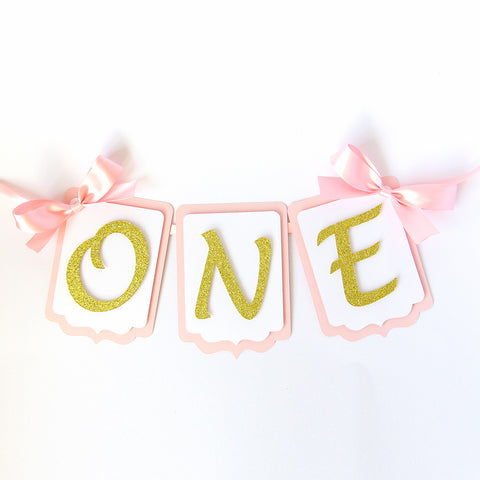 First Birthday - Highchair Banner