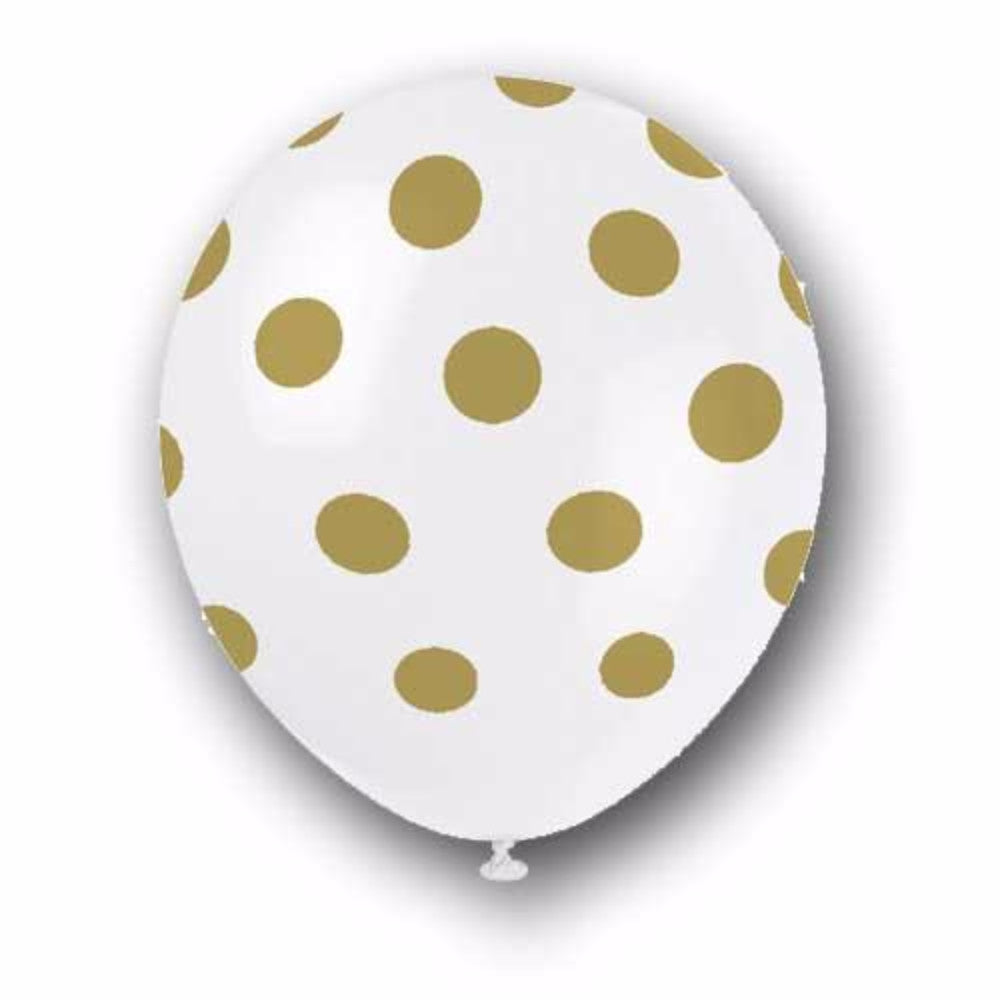 Party Balloons | Gold Dot