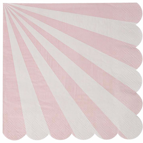 Party napkins in pink