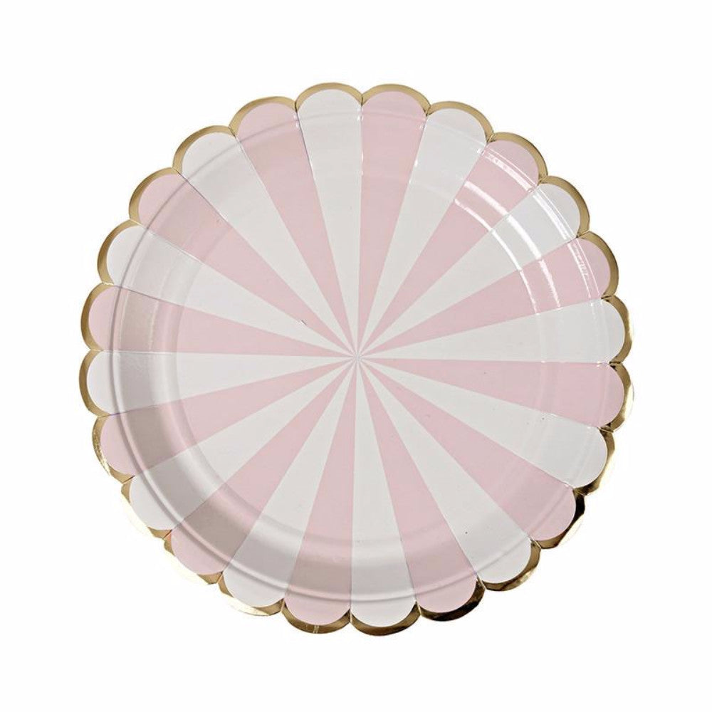 ... 8 Small Party Paper Plates | Pink and Gold - First birthday Inspired by Alma -  sc 1 st  Inspired by Alma & 8 Small Party Paper Plates | Pink and Gold