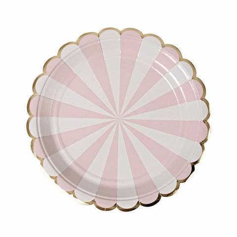 Small party plates | Pink and gold