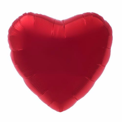 Heart Shaped Party Balloon | Ruby Red