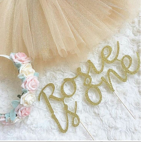 Birthday Cake Topper - Custom Birthday Name & Age - First birthday Inspired by Alma - Inspired by Alma Inspired by Alma - Inspired by Alma  Cake topper - Party decorartions, cake toppers, cupcake topper, confetti, iron on, outfit, straws, decor, first birthday party decorations.,