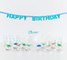 Happy Birthday Custom Name Wall Banner - First birthday Inspired by Alma - Inspired by Alma Inspired by Alma - Inspired by Alma  Wall banner - Party decorartions, cake toppers, cupcake topper, confetti, iron on, outfit, straws, decor, first birthday party decorations.,