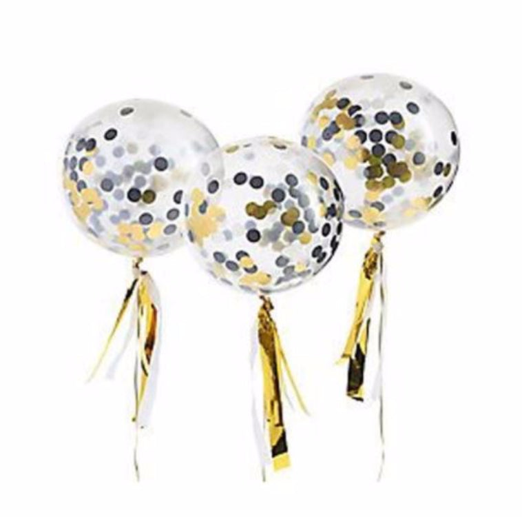 Gold Confetti Party Balloon Kit - First birthday Inspired by Alma - Inspired by Alma Inspired by Alma - Inspired by Alma  Other decorations - Party decorartions, cake toppers, cupcake topper, confetti, iron on, outfit, straws, decor, first birthday party decorations.,