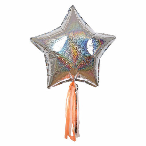 Sparkly silver star balloon