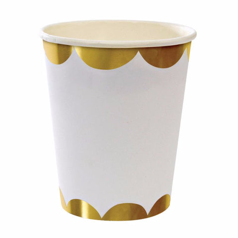 gold glitter party cups