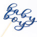 Baby Shower Cake Topper | Written Baby Boy | Gender Reveal - First birthday Inspired by Alma - Inspired by Alma Inspired by Alma - Inspired by Alma  Cake topper - Party decorartions, cake toppers, cupcake topper, confetti, iron on, outfit, straws, decor, first birthday party decorations.,