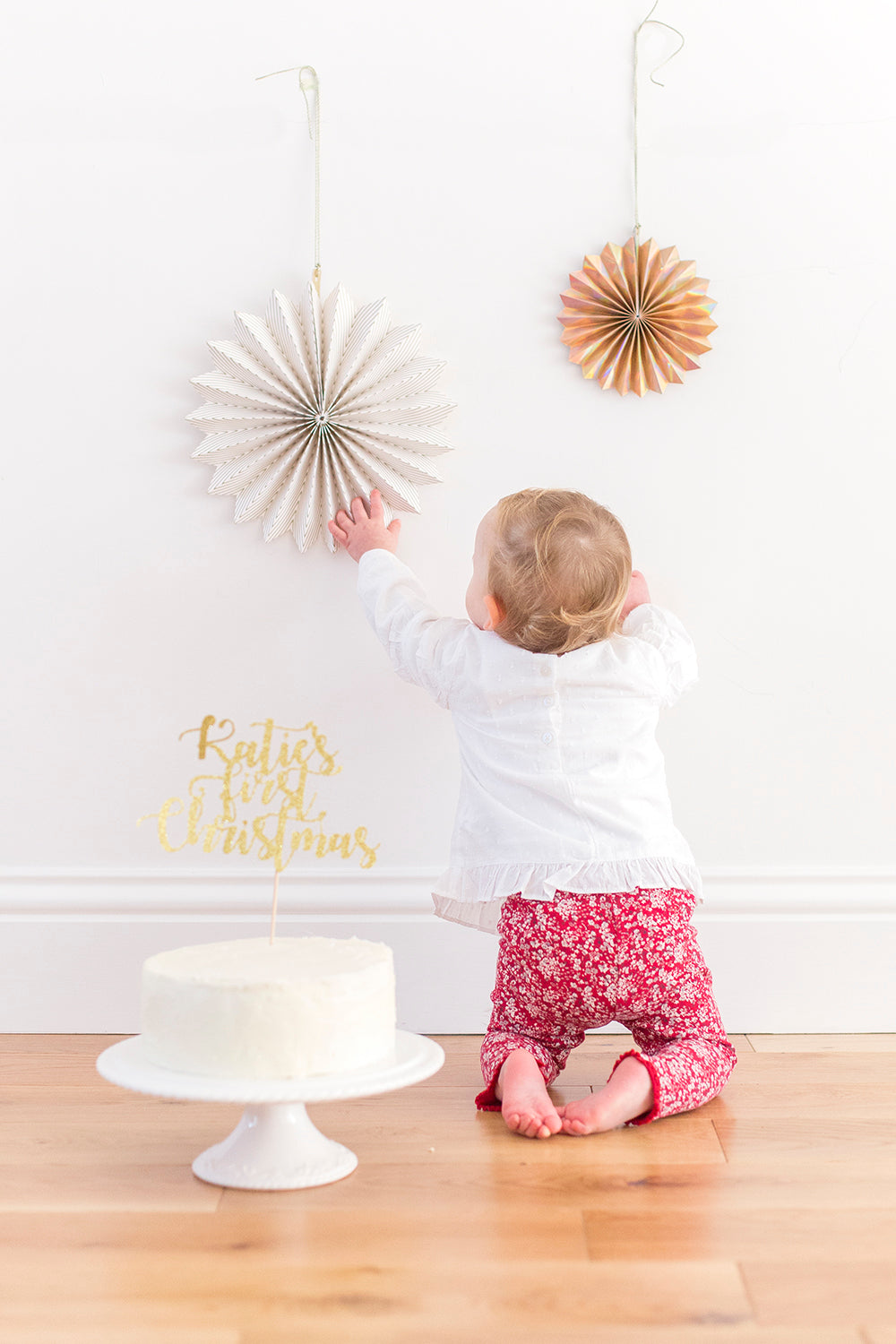 ... Baby First Christmas Cake Topper. Custom Name | Christmas Decorations    First Birthday Inspired By ...