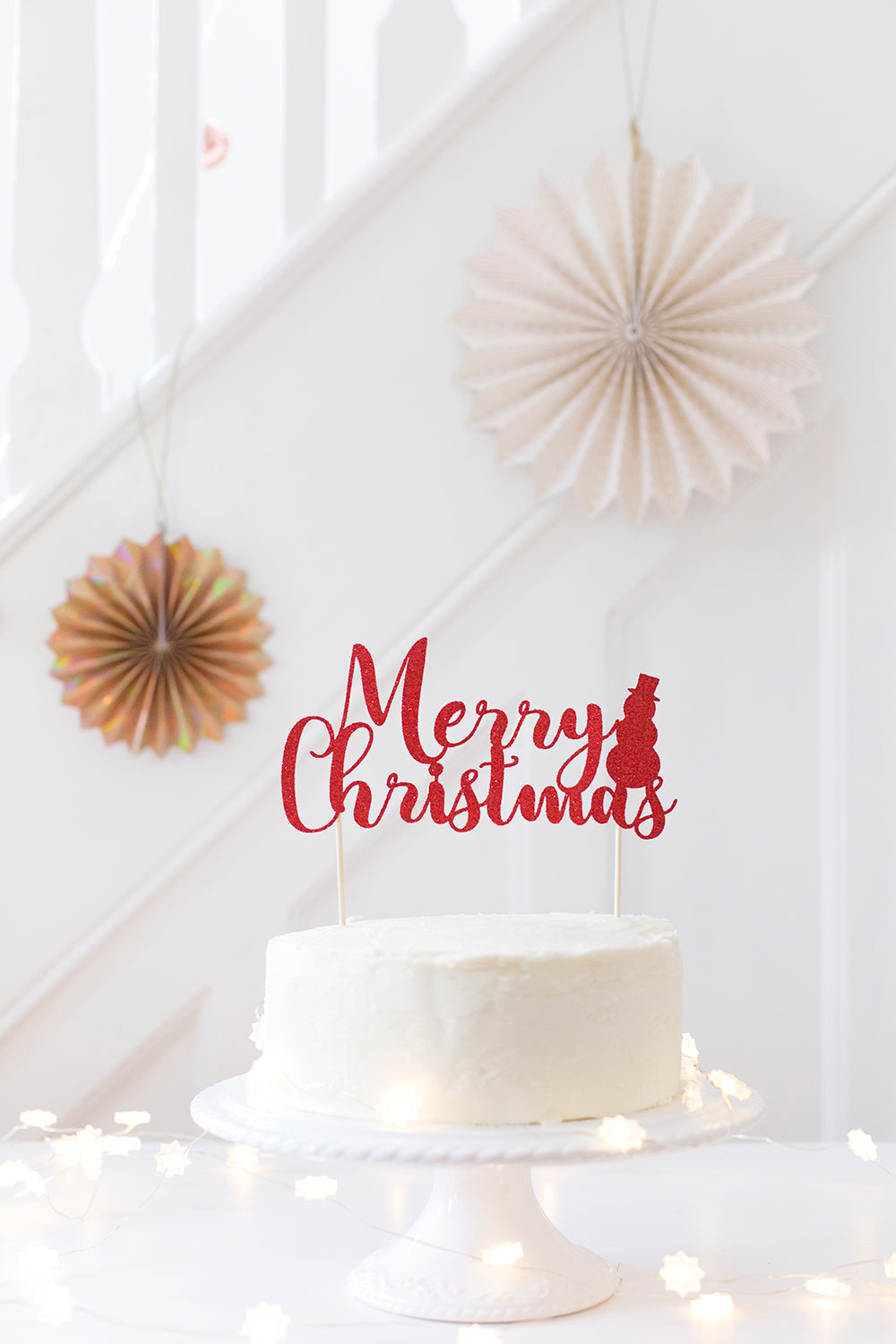 Merry Christmas Cake Topper | Christmas Decorations – Inspired by Alma