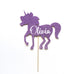 Magical Birthday Unicorn Pony Cake Topper - Custom Name and Colour - First birthday Inspired by Alma - Inspired by Alma Inspired by Alma - Inspired by Alma  Cake topper - Party decorartions, cake toppers, cupcake topper, confetti, iron on, outfit, straws, decor, first birthday party decorations.,