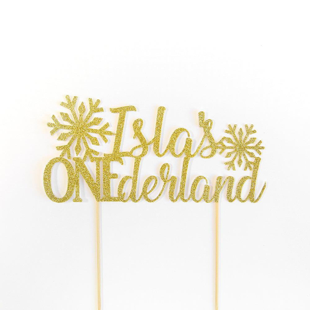 custom name birthday cake topper ? Winter ONEDERland