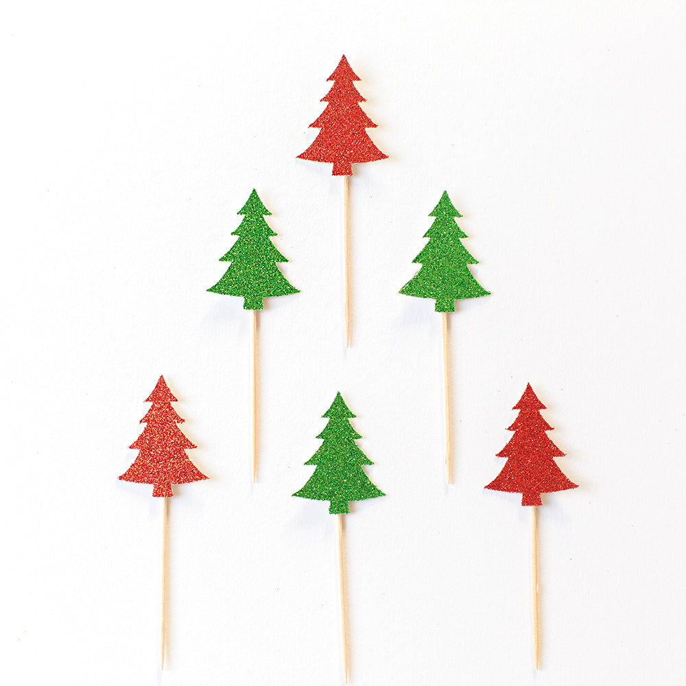 Christmas Tree Cupcake Toppers. | Christmas Decorations – Inspired ...