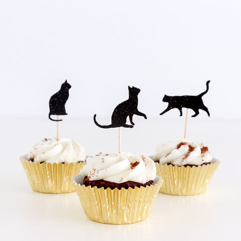 Cupcake toppers - Cat theme