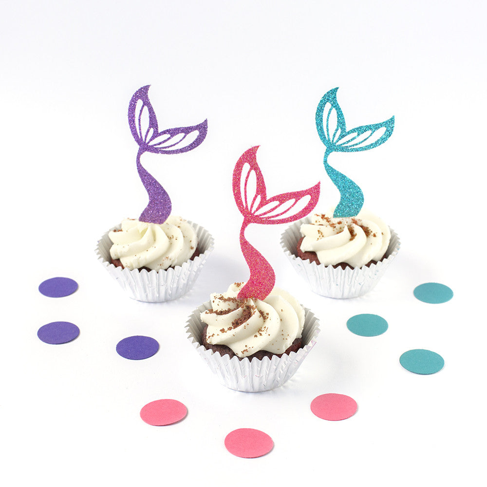 mermaid tale cupcake toppers