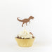 Dinosaur Cupcake Topper in Brown