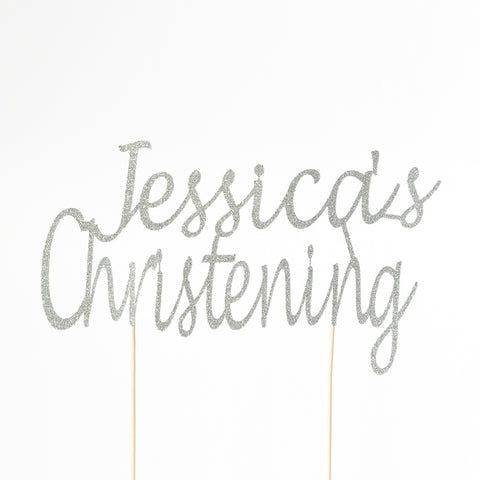 Christening Cake Topper | Custom Name - First birthday Inspired by Alma - Inspired by Alma Inspired by Alma - Inspired by Alma  Cake topper - Party decorartions, cake toppers, cupcake topper, confetti, iron on, outfit, straws, decor, first birthday party decorations.,