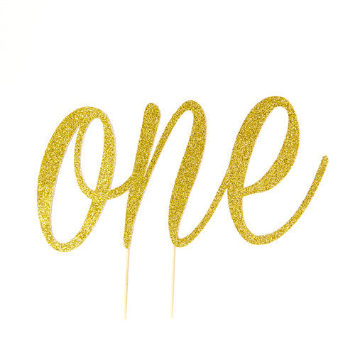 First Birthday ONE Cake Topper | Gold Glitter - First birthday Inspired by Alma - Inspired by Alma Inspired by Alma - Inspired by Alma  Cake topper - Party decorartions, cake toppers, cupcake topper, confetti, iron on, outfit, straws, decor, first birthday party decorations.,