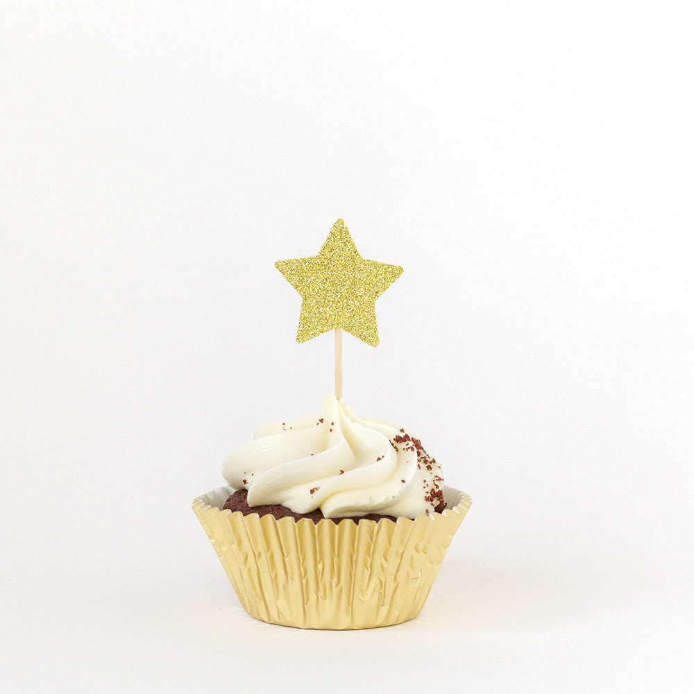 Star Birthday Cupcake Toppers