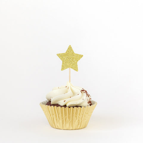 Star Birthday Cupcake Toppers - Twinkle Twinkle Little Star