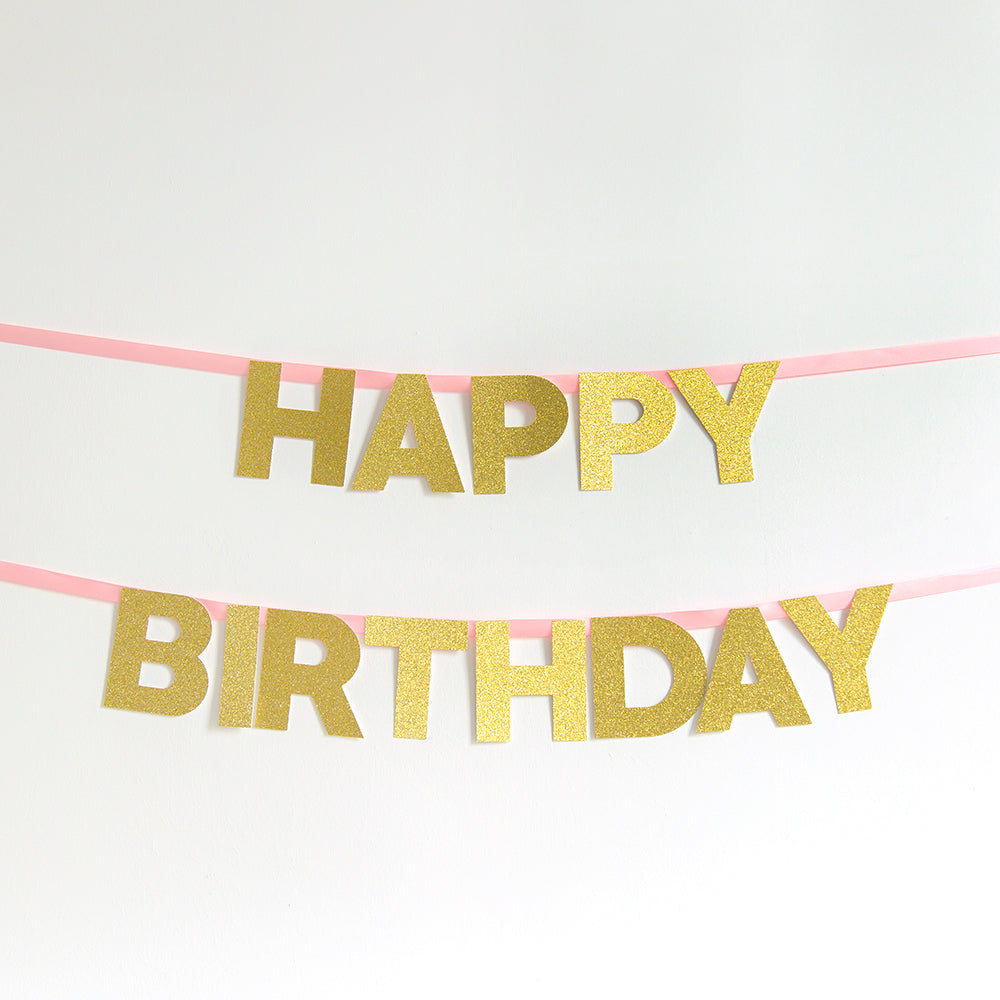 Happy Birthday Name Banner | Custom Colour – Inspired by Alma